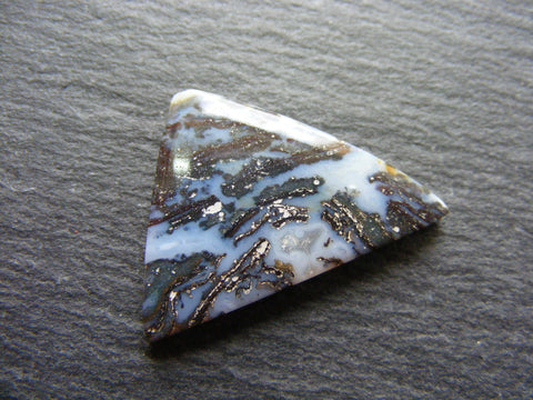 Moss Agate Triangular Cab