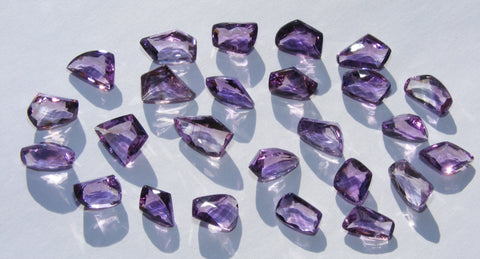 Amethyst Faceted Gems - Pack Of Three Stones