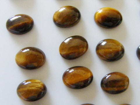 Tigers Eye Oval Cabs
