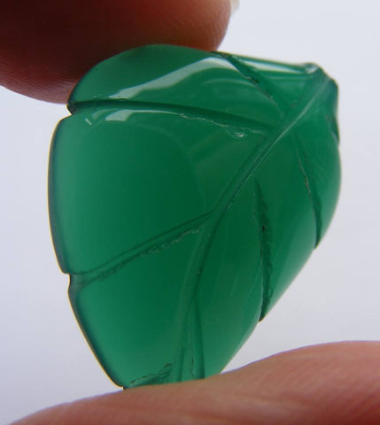 Green Agate (Dyed) Carved Cab