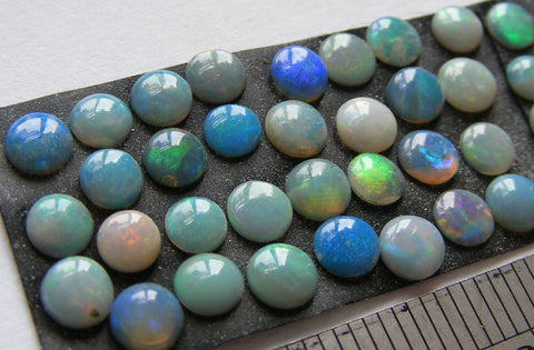 Australian Opal Round Cabs - Vintage