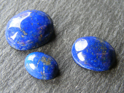 Lapis Lazuli Cabs - 3 Pack of Oval Shapes