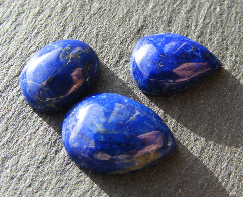 Lapis Lazuli Cabs - 3 Pack of Mixed Shapes