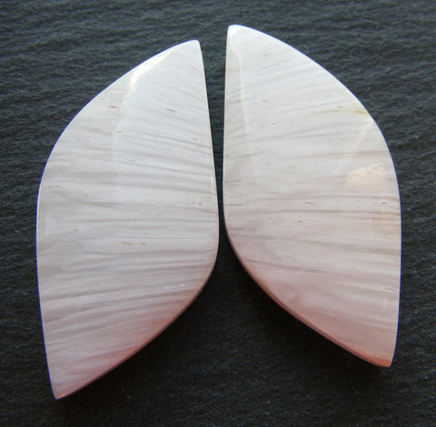 Scolecite Fancy Cabs - Matching Pair