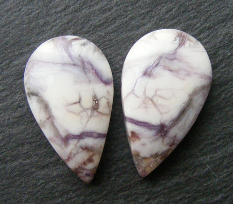 Tiffany Stone Pear Cabs - Matching Pair