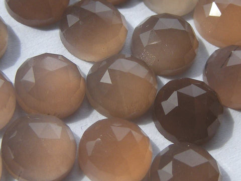 Brown Moonstone Round Cabs