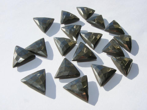 Pyrite Double Chequer Cut Triangular Cabs