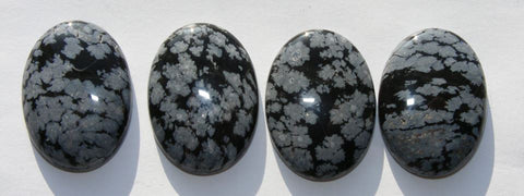 Snowflake Obsidian Oval Cab