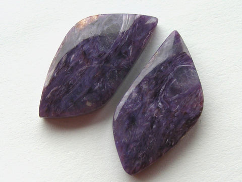Charoite Fancy Cabs - Matching Pair