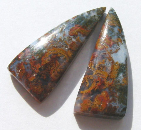 Hungarian Agate Fancy Cabs - Matched Pair
