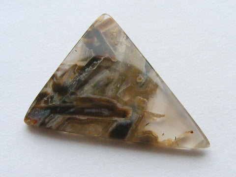 Hungarian Tube Agate Triangular Cab