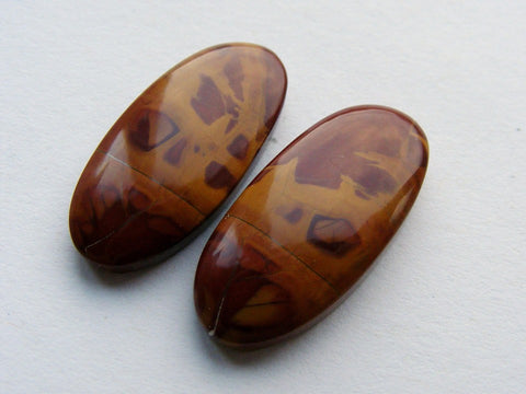 Noreena Jasper Oval Cabs - Closely Matched Pair