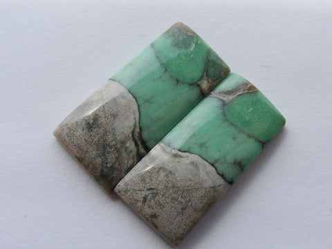 Variscite Rectangular Cabs - Matched Pair