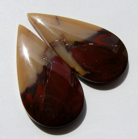 Mookaite Pear Cabs - Matching Pair