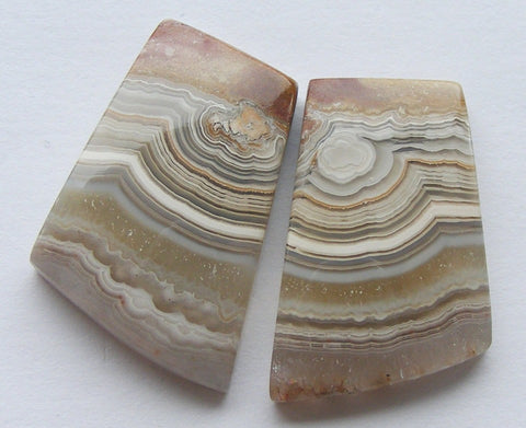 Crazy Lace Agate Fancy Cabs - Matched Pair