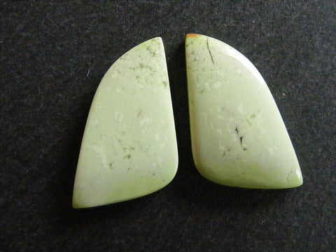 Lemon Chrysoprase Fancy Cabs - Matched Pair