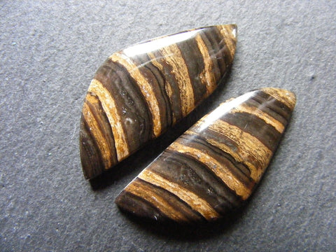 Aragonite Fancy Cabs - Matching Pair
