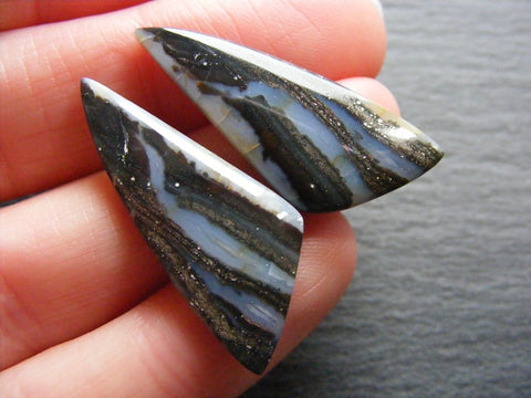 Moss Agate Fancy Cabs - Matching Pair