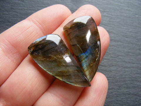 Labradorite Fancy Cabs - Matching Pair