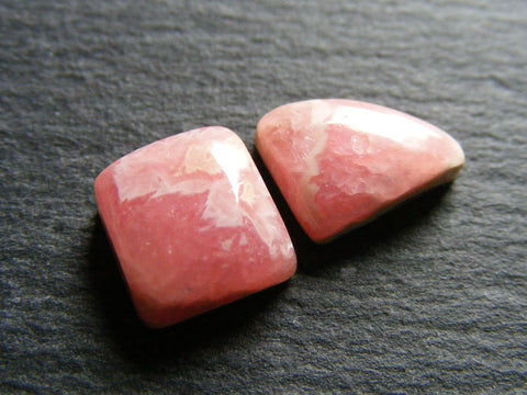 Rhodochrosite Cabs - Pack of Two Gems