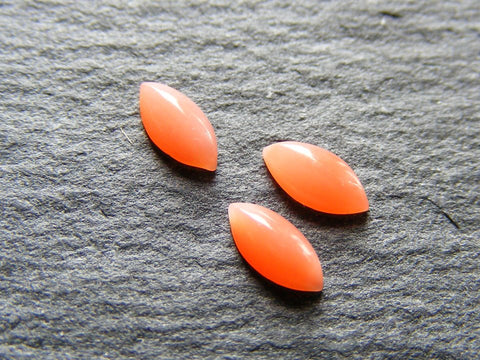 Coral Marquise Cabs Vintage Gems - Pack of 3