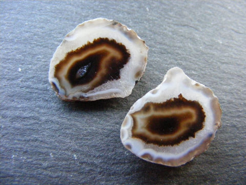Geode Agate Matched Pair