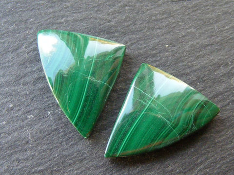 Malachite Fancy Cabs - Matching Pair