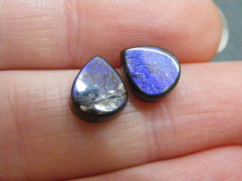 Ammolite Pear Cabs -Matching Pair - AAAA Grade