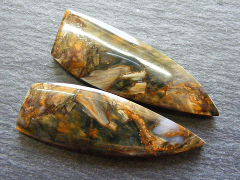 Pietersite Fancy Focal Cabs - Matching Pair