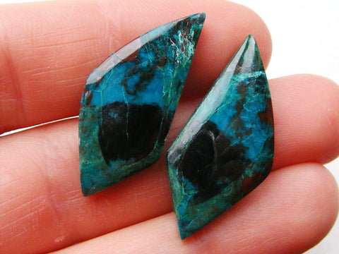 Chrysocolla Fancy Cabs - Matching Pair