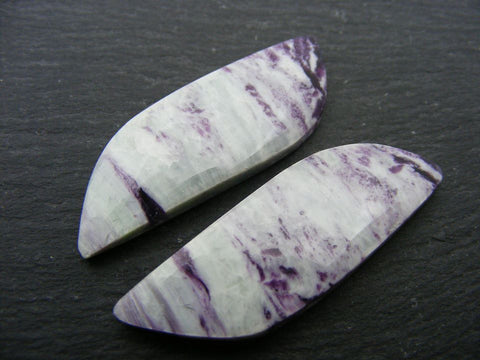Purpurite Fancy Cabs - Matching Pair