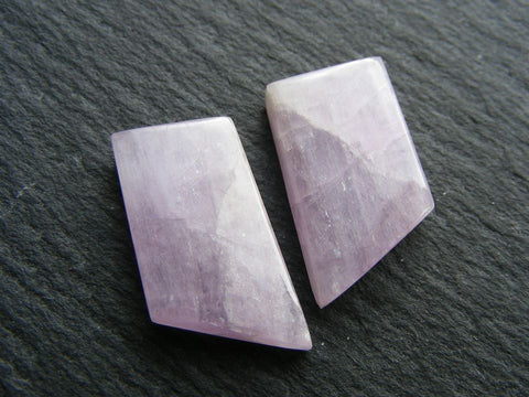 Kunzite Fancy Cabs - Matching Pair