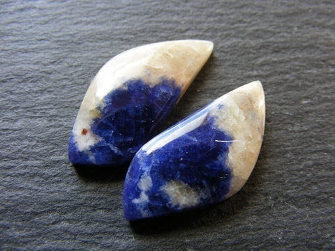 Sodalite Fancy Cabs - Matching Pair