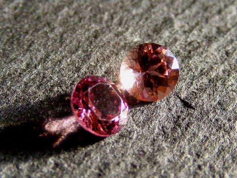 Pink Tourmaline Round Faceted Gems - AA Grade