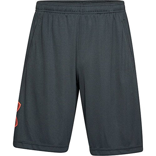 Under Armour Men's Tech Graphic Shorts, Anthracite/Neon Coral