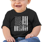 ANYE&&HF Brraaap Dirt Bike Motocross Unisex Baby Soft and Cozy Cotton T-Shirts Black