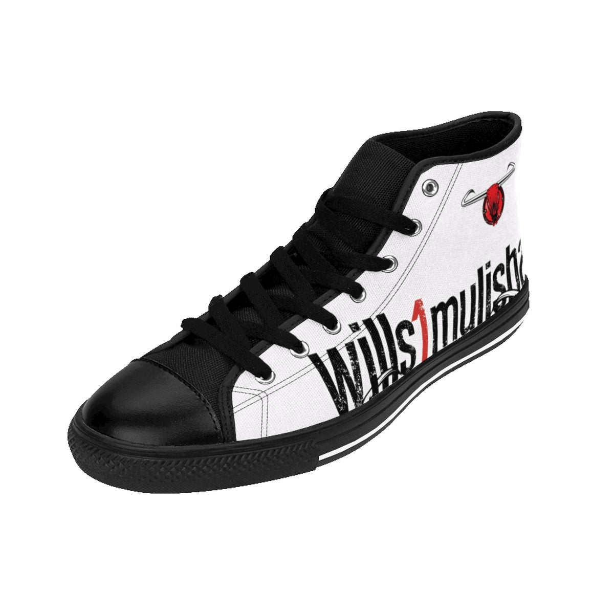wills1mulisha Men's High-top Canvas Sneakers, White