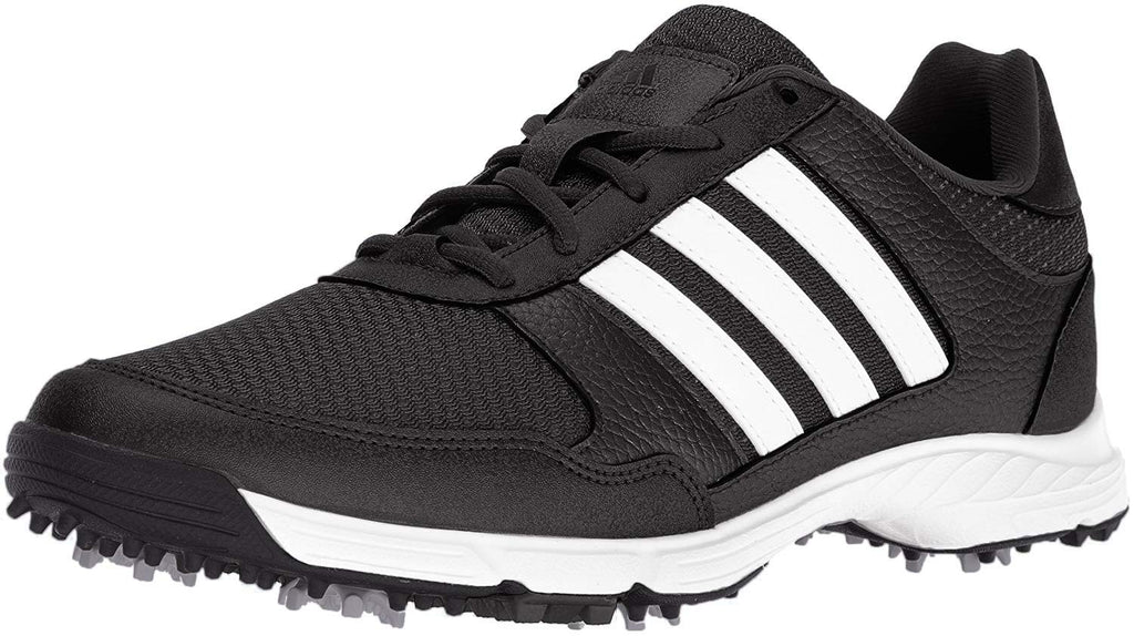 ADIDAS Men's Tech Response Golf Shoe, Black, Iron Metallic and White