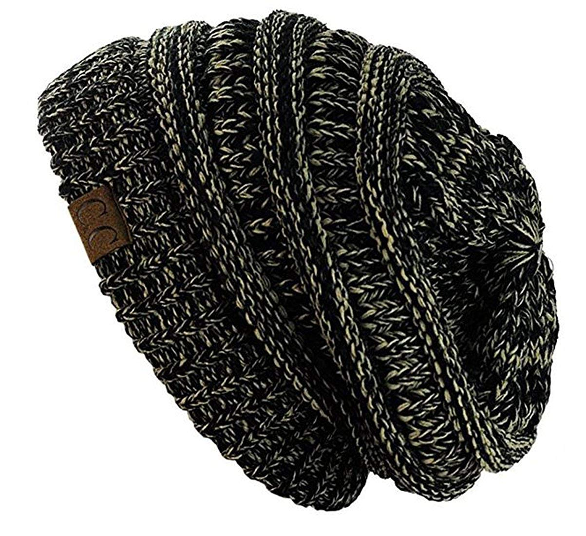 C.C Trendy Warm Chunky Soft Stretch Cable Knit Beanie Skully