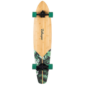 "RETROSPEC (Formerly Ten Toes) Zed Bamboo Longboard Skateboard Cruiser, 44"", Green Flora"
