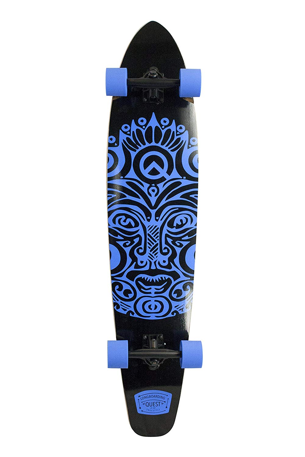 "Quest The Super Cruiser The Original Artisan Bamboo and Maple 44"" Longboard Skateboard"