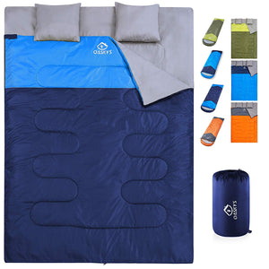 OASKYS Camping Sleeping Bag,3 Season Warm & Cool Weather. Lightweight & Waterproof