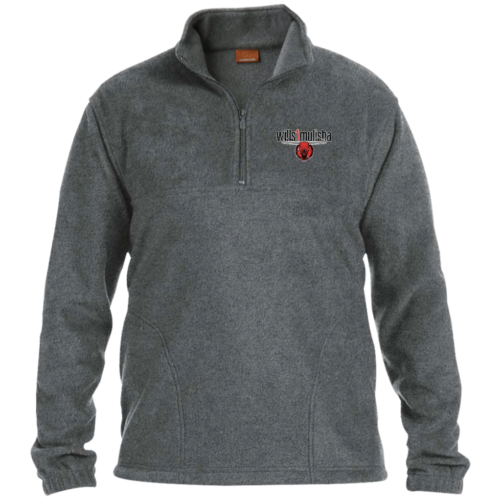 wills1mulisha Embroidered Harriton 1/4 Zip Fleece Pullover