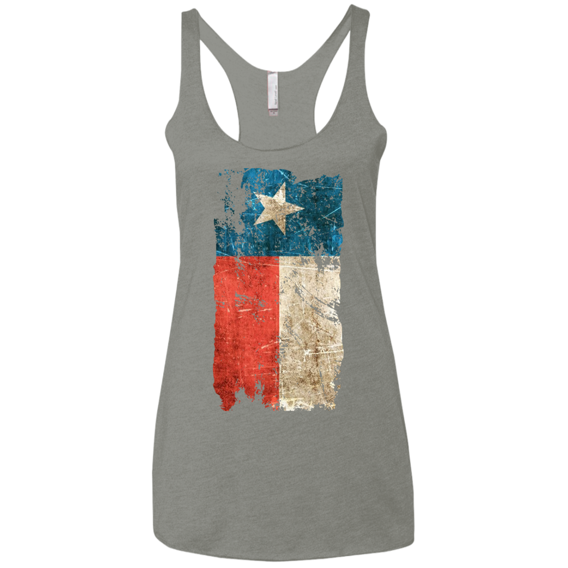 Distressed Texas Flag Next Level Ladies' Triblend Racerback Tank