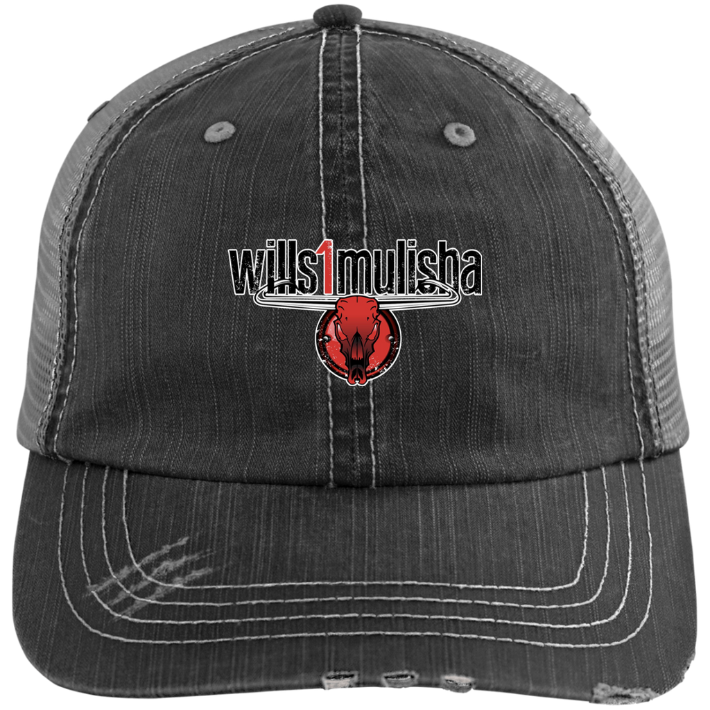 2021 wills1mulisha Distressed Embroidered Trucker Cap, More Great Colors To Choose From