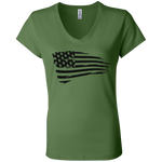 wills1mulisha American Pride Bella + Canvas Ladies' Jersey V-Neck T-Shirt