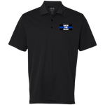 wills1mulisha BACK THE BLUE Golf ClimaLite Basic Performance Pique Polo