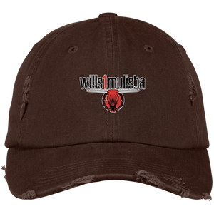 wills1mulisha Embroidered District Distressed Dad Cap