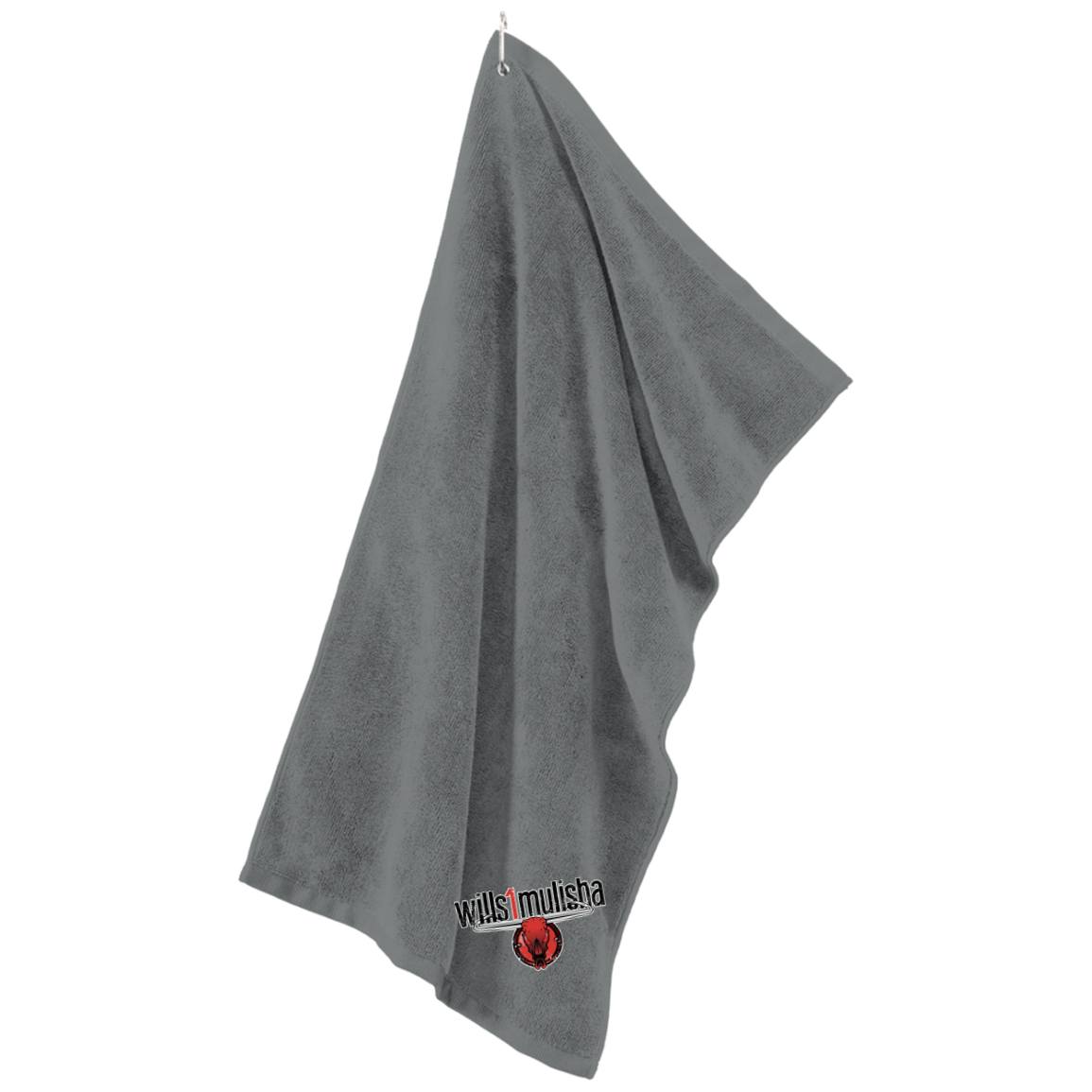 wills1mulisha Embroidered Port Authority Microfiber Golf Towel