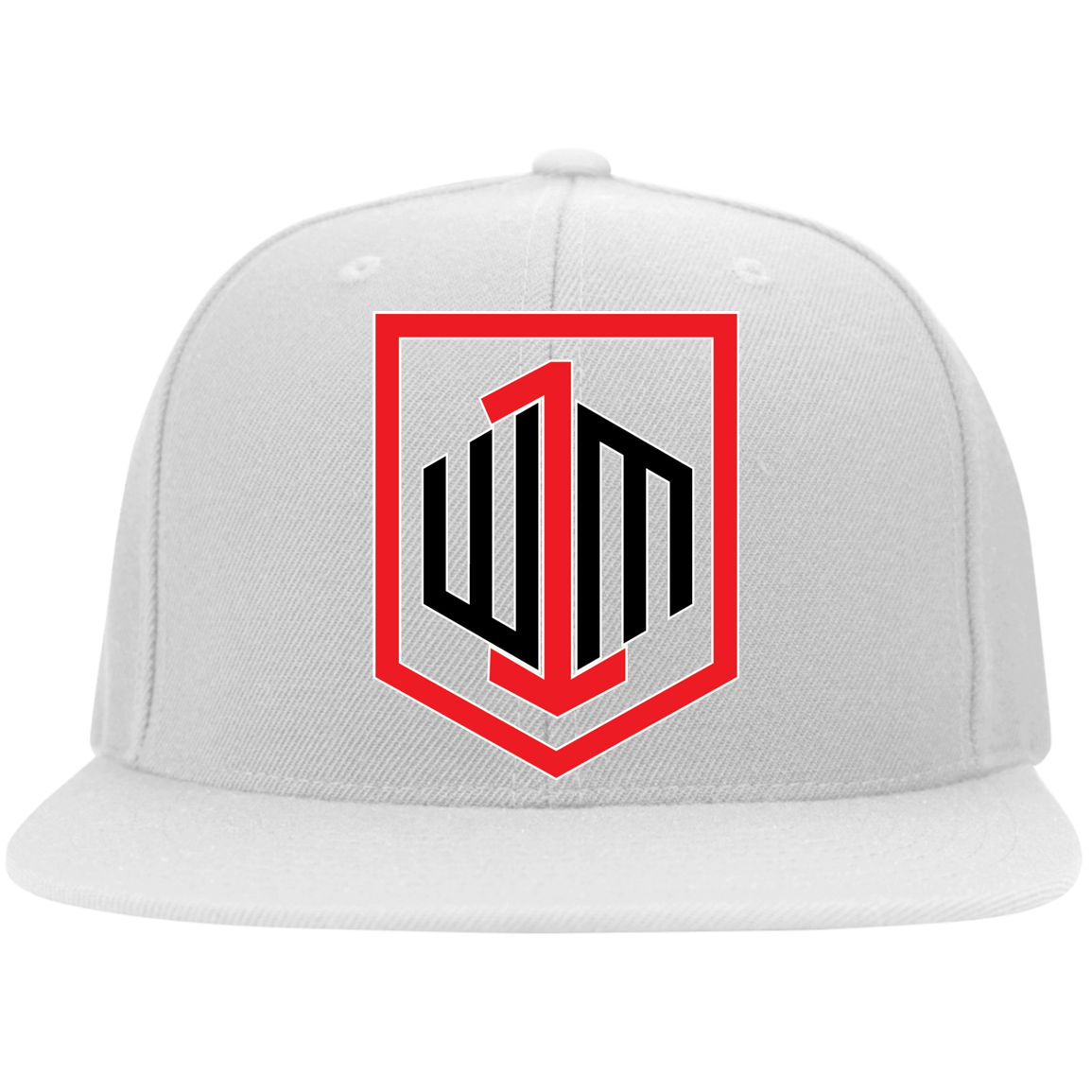 W1M Golf Flat Bill Twill Flexfit Embroidered Cap, 6 Colors and 2 Sizes To Choose From